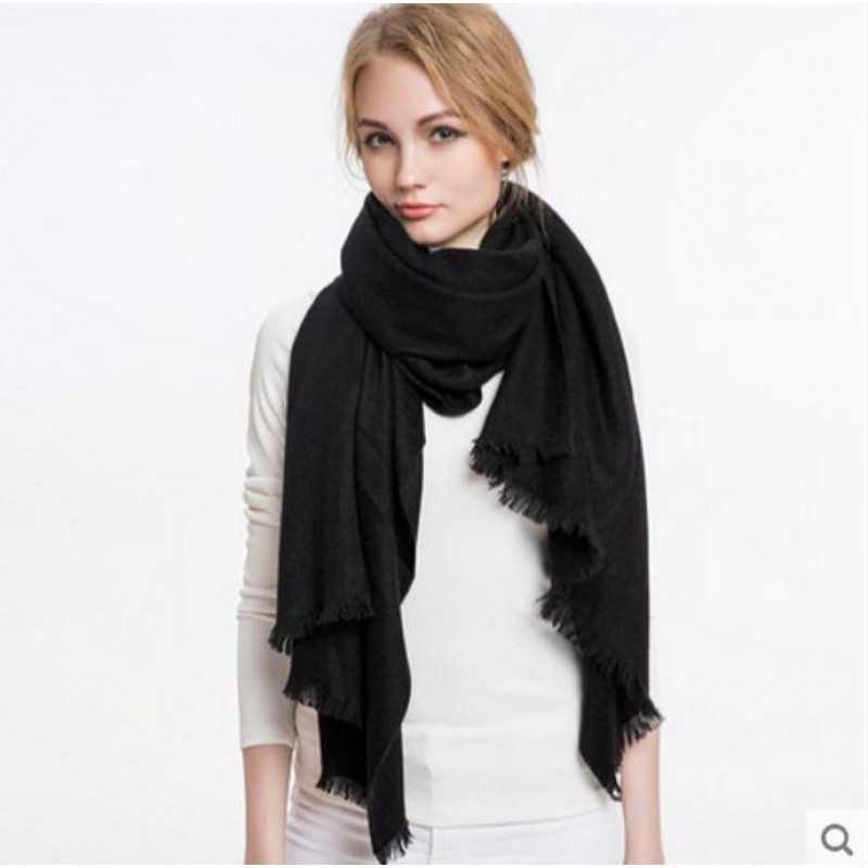 Pure Cashmere Scarves Deep Gray Women Fashional Winter Scarf