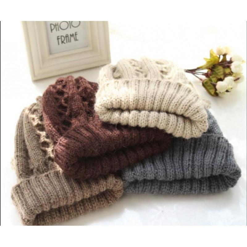 b08fea7d09a Pure Cashmere Hat Gray Knit Lined Winter Cashmere Hat