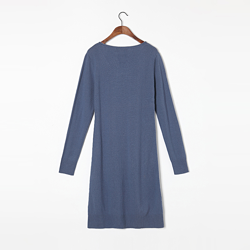 100 Cashmere Sweater Women High Quality Pure Cashmere Long Blue Sweaters Winter Pullover Lady Warm Soft Solid Natural Fabric
