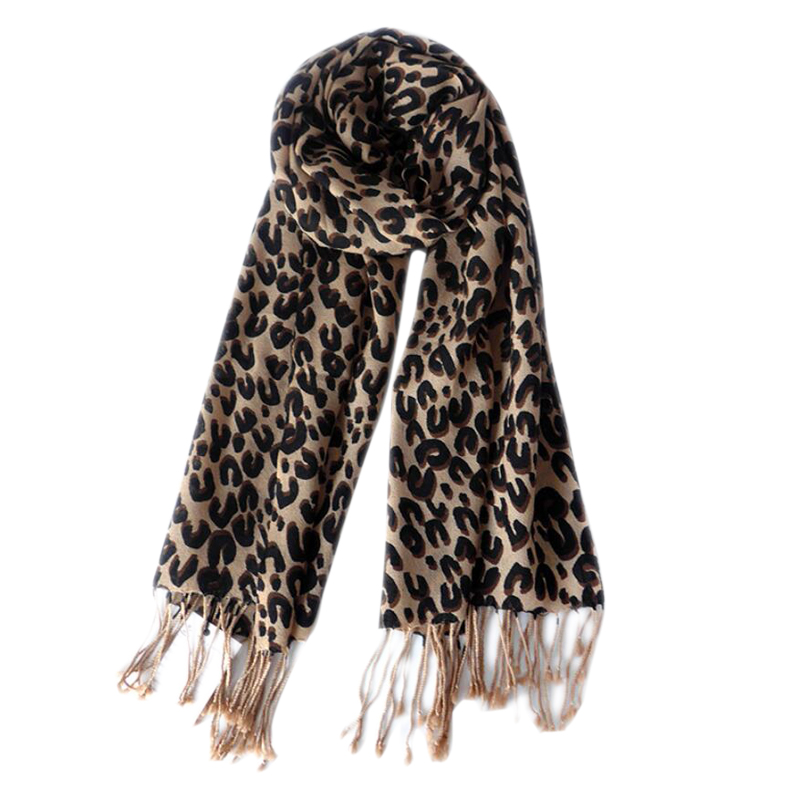 Wool Scarf Winter Woman High Quality Fashion Leopard Printed Wool Scarf Shawls Warm Free Shipping