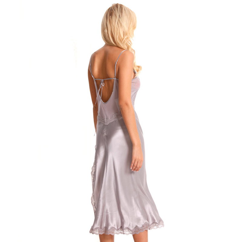 Silk Nightdress Female Sleeveless Summer V-Neck Simple Sexy Nightgowns Real Silk Sleepwear Women High Quality Clothing