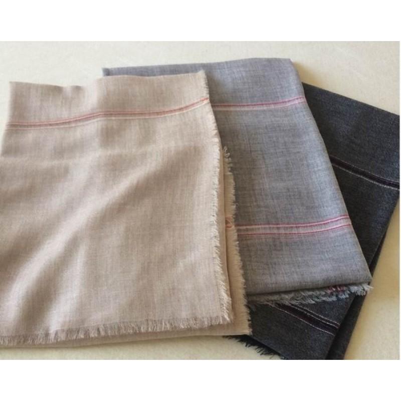 Pure Cashmere Scarves Beige Plaid Women Fashional Winter Scarf