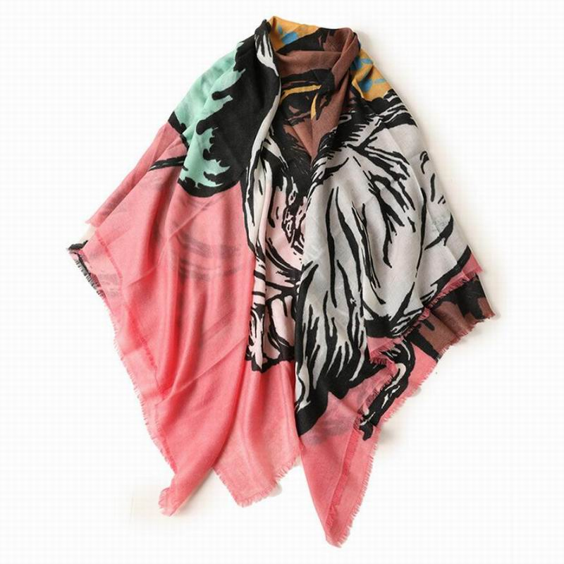 Bogeda New Winter Pure Cashmere Scarf Women Fashion Printed Scarves Shawl Thin Pashmina Lady High Quality Free Shipping