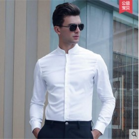 Pure Cotton Shirt Black White Men Customize Shirt