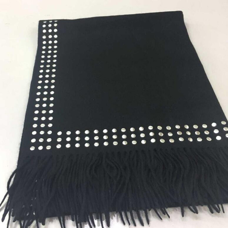 Pure Cashmere Scarves Black Paillette Women Fashional Winter Scarf