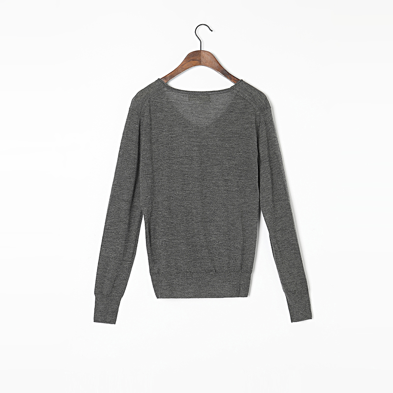 100 Cashmere Sweater Women High Quality Extra Thin Gray Sweaters Pullover Lady Warm Soft Solid Natural Fabric