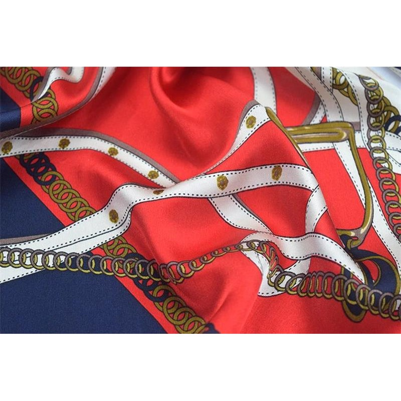 Silk Scarf 100 SILK Red PRINTSCARF 55X 173 CM Natural Fabric High Quality Free Shipping