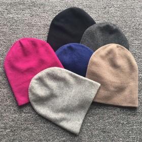 7b333245d44 Pure Cashmere Hat Blue Black Color Winter Cashmere Hat