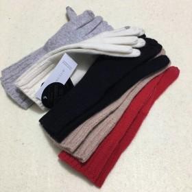 Pure Cashmere Glove Wine Black Winter Fashional Glove