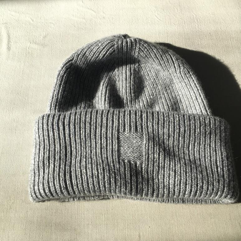 Pure Cashmere Hat Gray Women Winter Hat