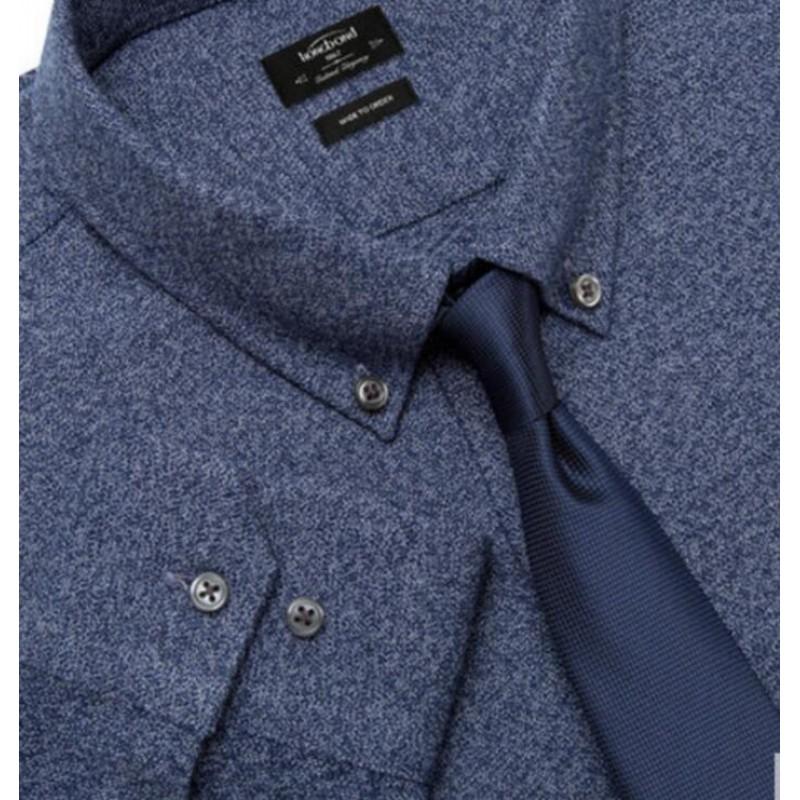 Pure Cotton Shirt Blue Gray Men Customize Shirt
