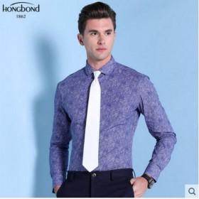 Pure Cotton Shirt Purple Print Men Customize Shirt