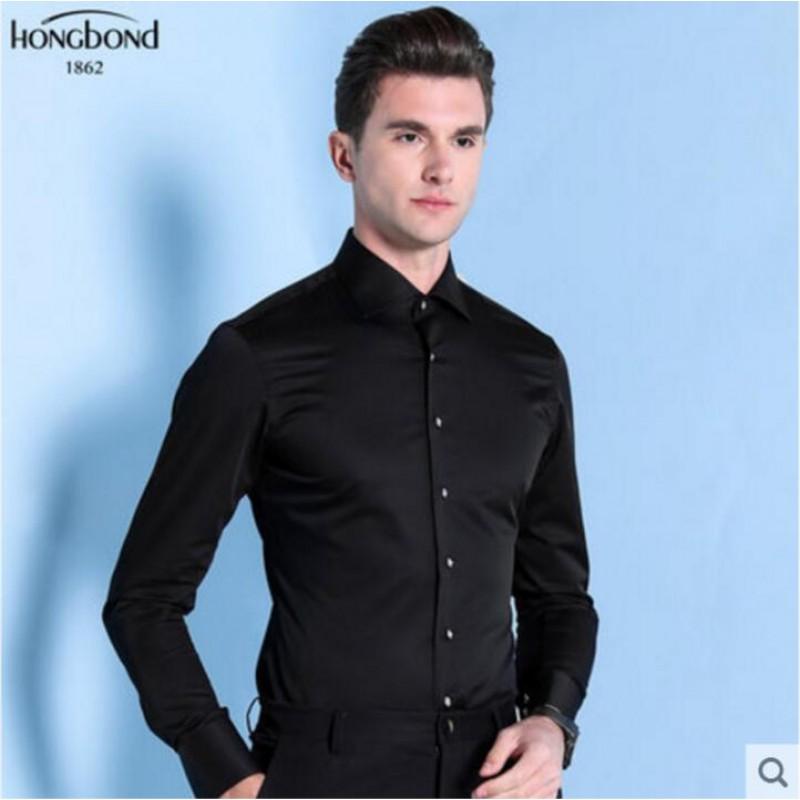 Mercerized Cotton Shirt Black White Men Customize Shirt