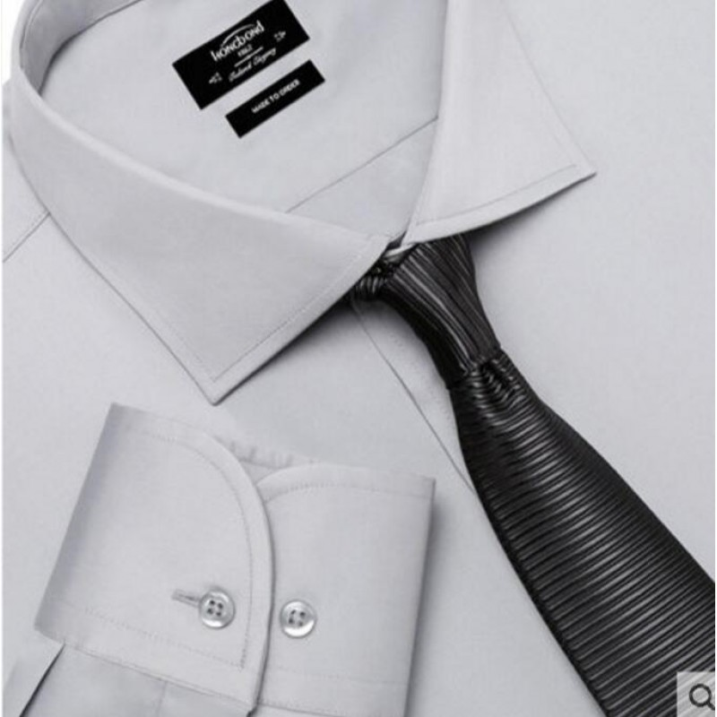 Pure Cotton Shirt Light Gray Formal Men Customize Shirt