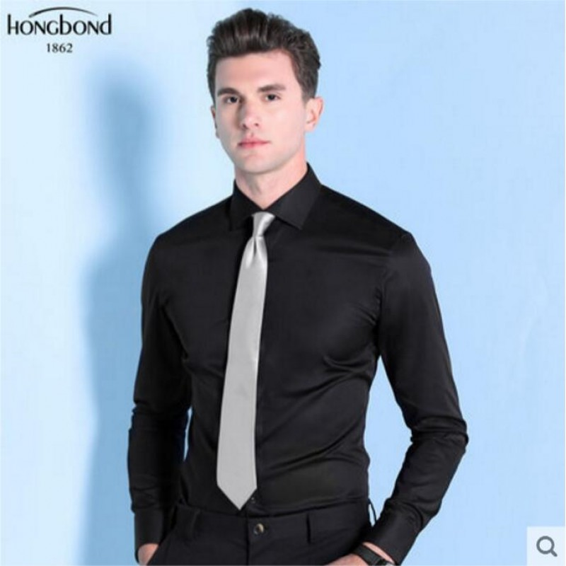 Pure Cotton Shirt Black Formal Men Customize Shirt