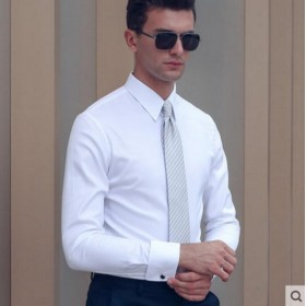 Pure Cotton Shirt Blue White Men Customize Shirt