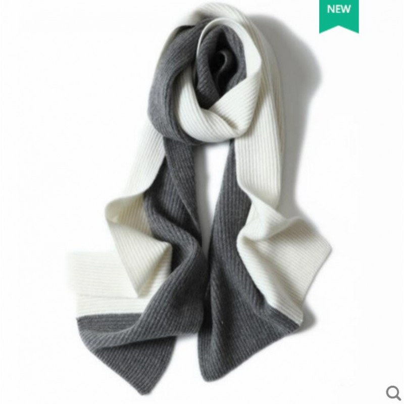 100%Cashmere Scarf Women Men Solid Color Warm Winter Scarfs Coffee