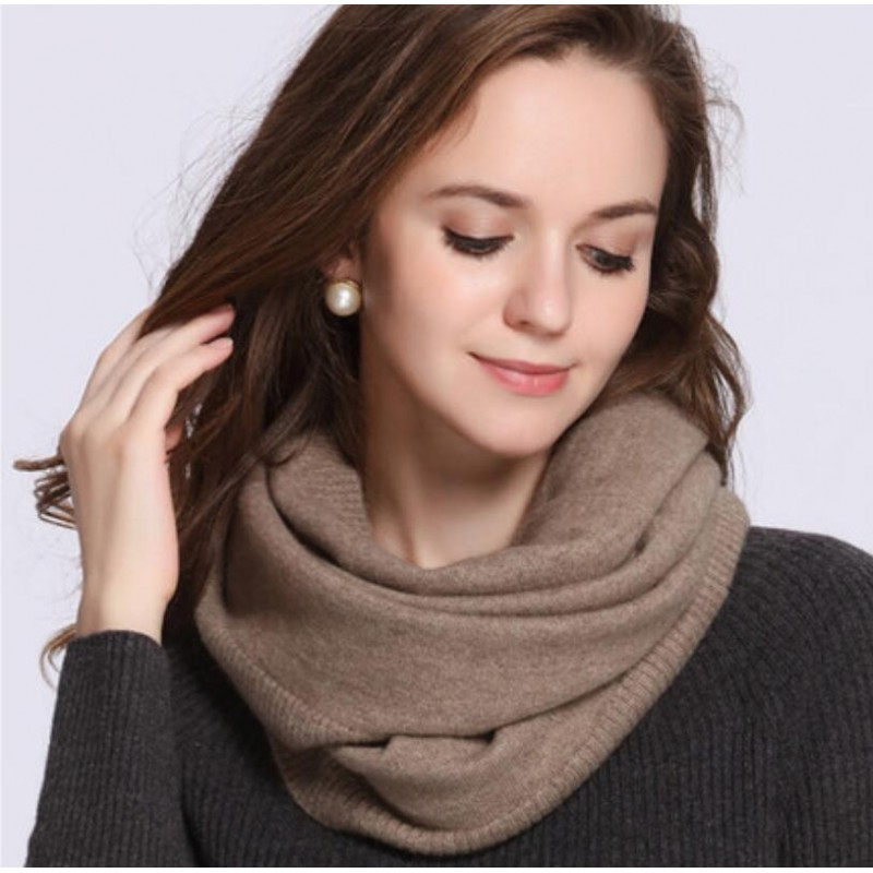 100%Cashmere Scarf Women Men Solid Color Warm Winter Scarfs Gray