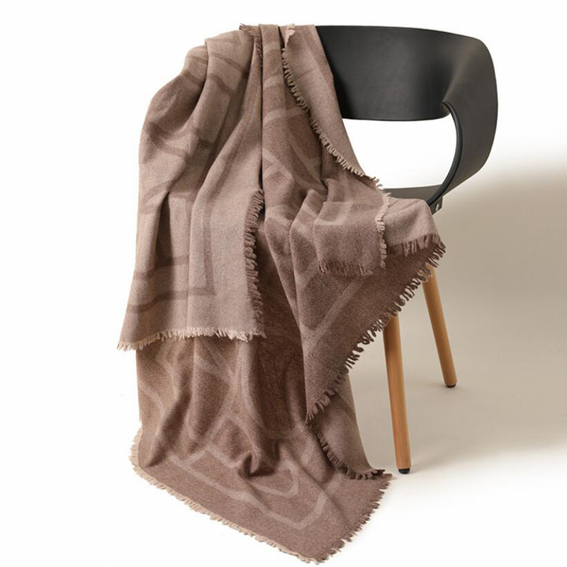 Wool Scarf Winter Woman Fashion Style Light Brown Wool Scarf Shawls Blanket Lady High Quality Free Shipping