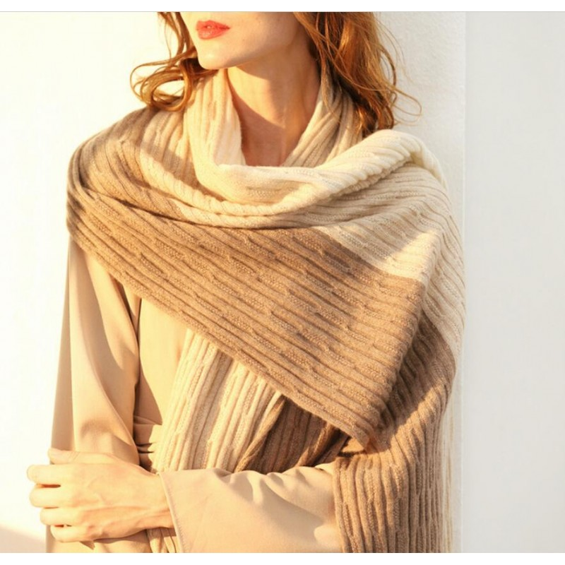 Bogeda New Cashmere Scarf Women Winter Thick Warm Luxury Pashmina Cashmere Scarf Camel Beige High Quality Free Shipping