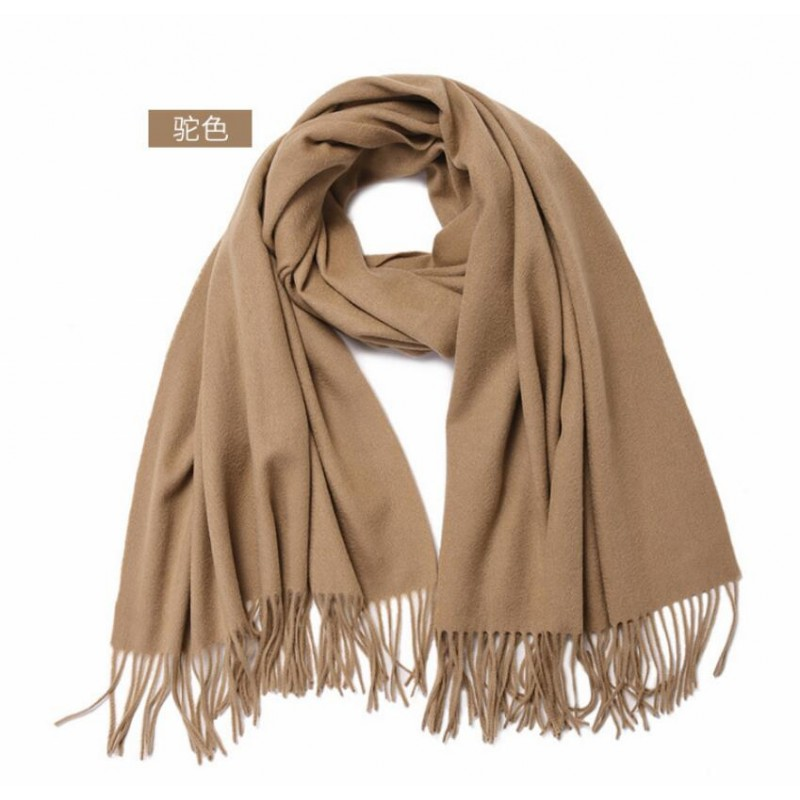 Bogeda New Pashmina Scarf Luxury Cashmere Wool Scarf Woman Solid Long Scarfs High Quality Natural Fabric Free Shipping
