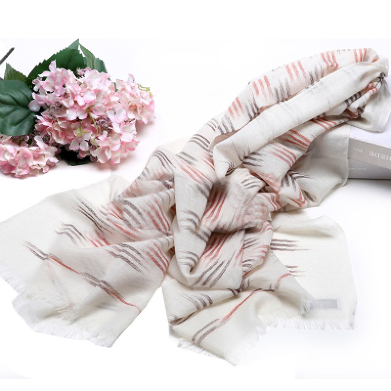 Pure Cashmere Scarves White Multicolorful Women Fashional Winter Scarf