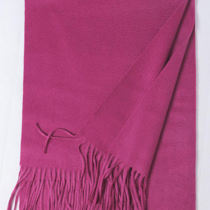Pure Cashmere Scarves Rose Women Winter Scarf