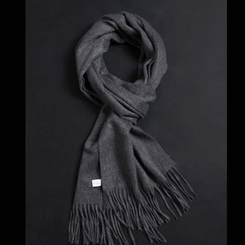 Pure Cashmere Scarves Deep Gray Women Winter Scarf