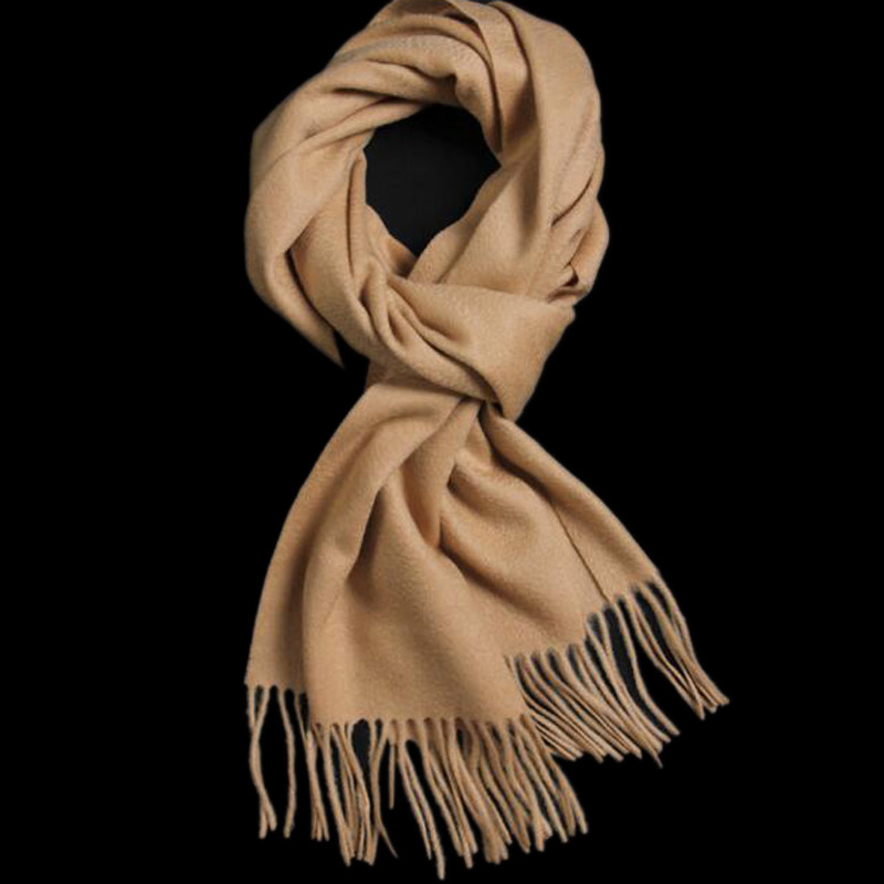 Pure Cashmere Scarves Camel Women Winter Scarf