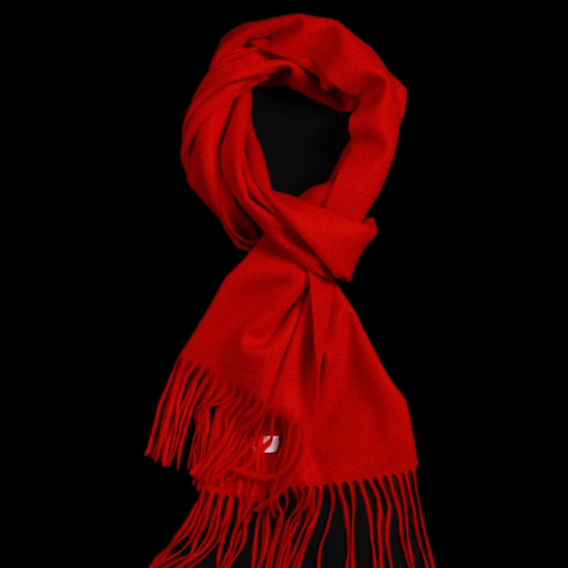 Pure Cashmere Scarves Red Women Winter Scarf