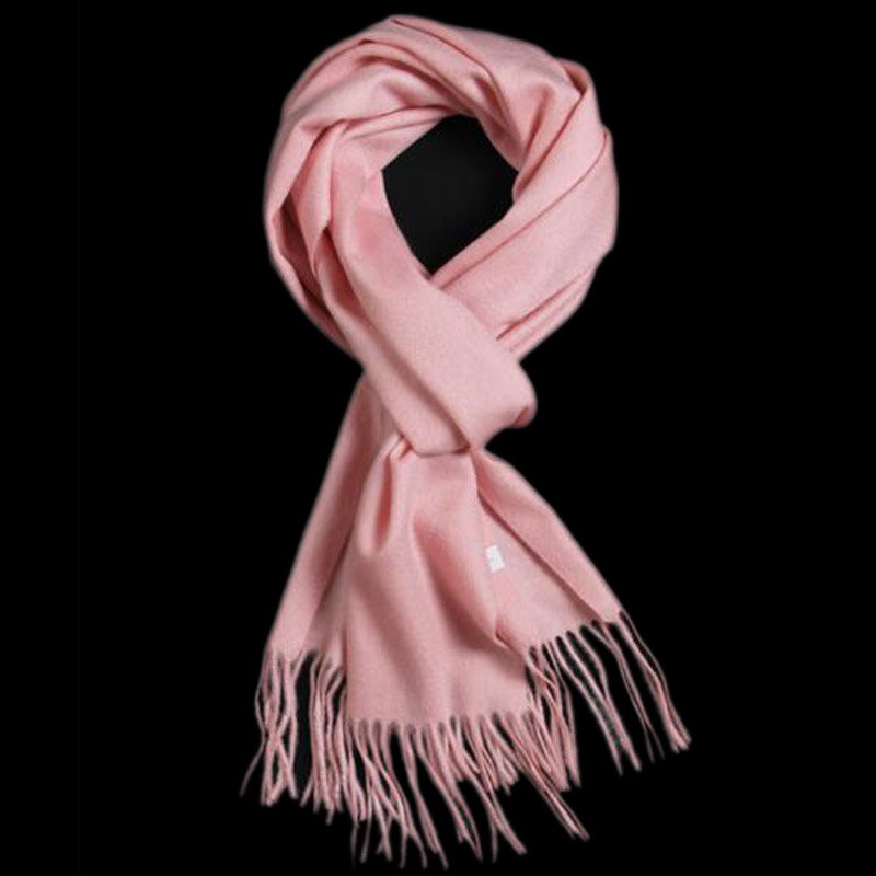 Pure Cashmere Scarves Pink Women Winter Scarf