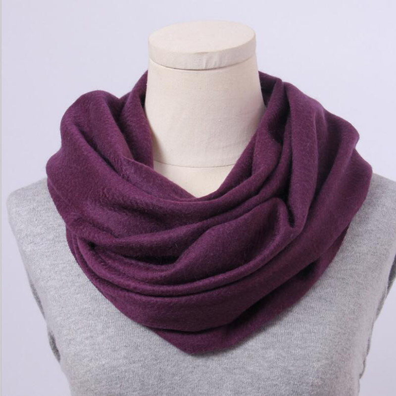 Pure Cashmere Scarves Purple Women Winter Scarf