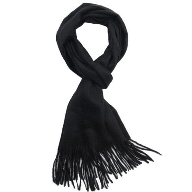 Pure Cashmere Scarves Black Women Winter Scarf