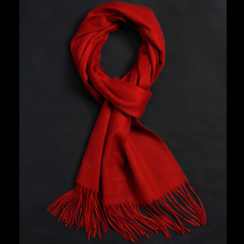 Pure Cashmere Scarves Royal Red Women Winter Scarf