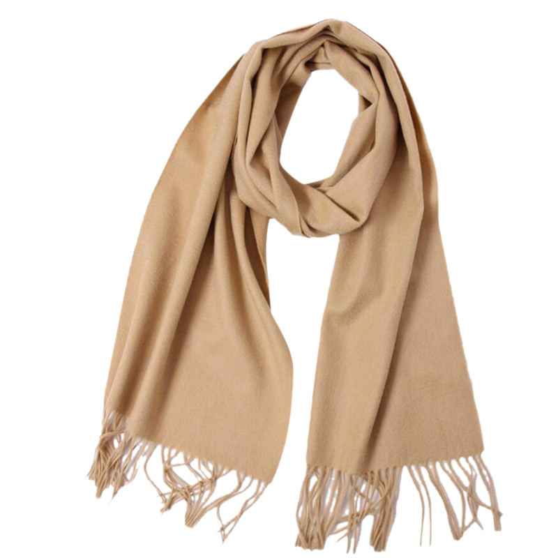 Cashmere Scarf High Quality Color Camel Pure Cashmere Scarf Women Men Free Shipping