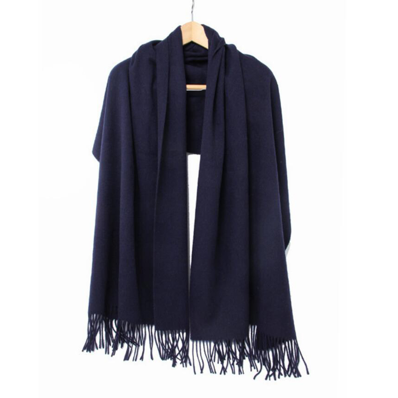 Yak Wool Scarf Winter Woman High Quality Big Size Shawl Color Navy Scarf Women Free Shipping