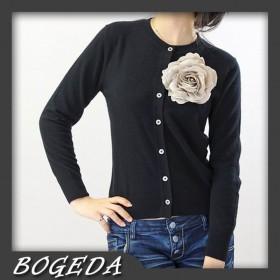 100%Cashmere Sweater Cardigan Black O-neck Lady Winter Sweater