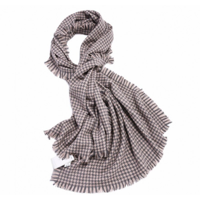 Bogeda New 100%Wool Scarf Women Luxury Brand Winter Warm Big Houndstooth Scarfs Thick High Quality Natural Fabric Free Shipping