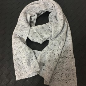 Soft Wool Scarves Gray Women Winter Pashmina Scarf