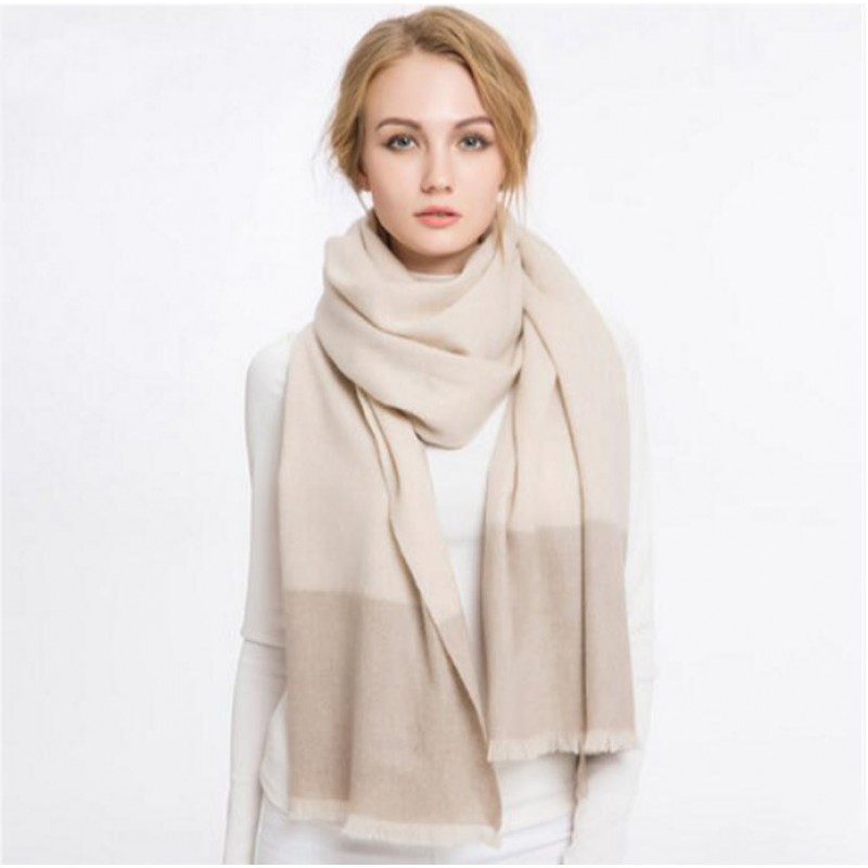 Pure Cashmere Scarves Beige Women Fashional Winter Scarf