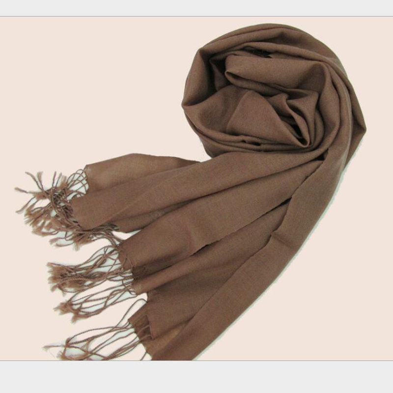 Wool Scarf Winter Woman High Quality Color Brown Big Size Merino Wool Scarf Shawls Women Free Shipping
