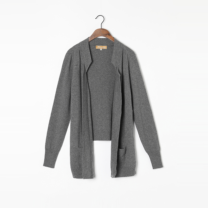 100 Cashmere Sweater Women Long Cardigan High Quality Winter Sweaters Purple Green Gray Warm Soft Solid Natural Fabric