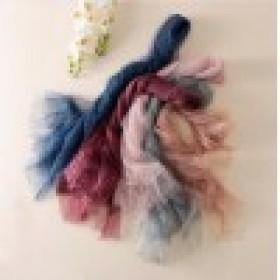 Soft Silk Scarves Gray Pink Woman Fashion Scarf