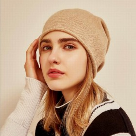 Bogeda New Pure Cashmere Hat Women Camel Red Beanies Winter Warm Cap Natural Fabric Soft Warm Hats Girl Gift Free Shipping