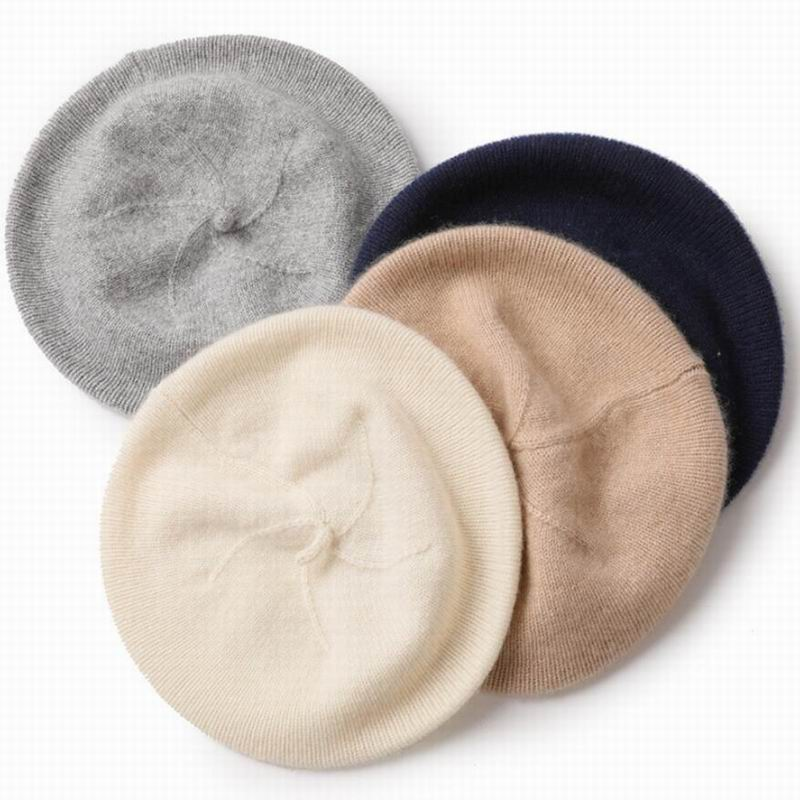 Bogeda New Pure Cashmere Hat Women White Beret Beanies Winter Warm Cap Natural Fabric Soft Warm Hats Girl Gift Free Shipping