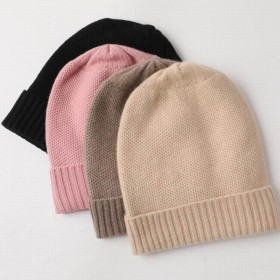 Bogeda New Pure Cashmere Hat Women Camel Black Beanies Winter Warm Cap Natural Fabric Soft Warm Hats Girl Gift Free Shipping