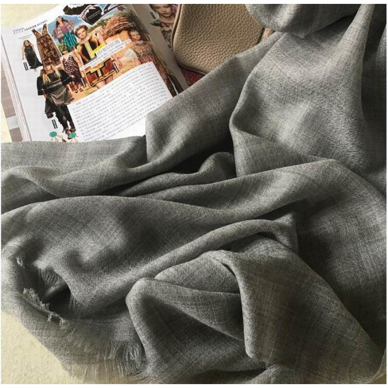 Pure Cashmere Scarves Gray Brown Fashional Winter Scarf