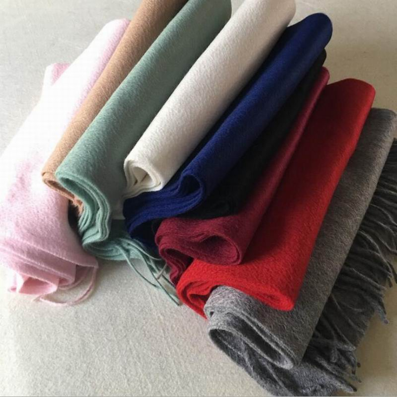 Pure Cashmere Scarves Green Pink Fashional Winter Scarf